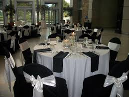 ... Black Tablecloth White Chair Covers Lovely Black Chairs So No Chair  Covers But This Will Be ...