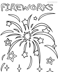 Small Picture Coloring Page Fireworks Pages 4th July Preschool Safety Printable