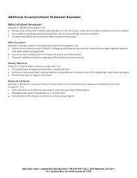 ... Collection of Solutions Sample Resume Accomplishment Statements With  Format Layout ...