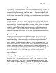 cheerleading informative speech outline cheerleading informative  2 pages learning theories essay