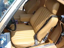 mercedes sl r107 380sl 560sl leather seat covers kit 81 89 german leather