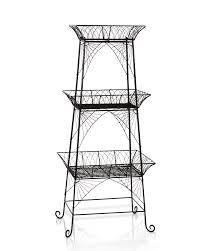 Cordial 8592614 574 Black 3 Tier Wire Metal Plant Stand Or Bathroom Etagere  in Metal Plant