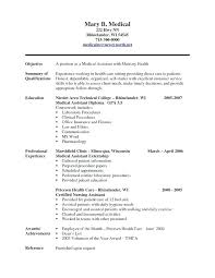Medical Assistant Resume Samples Awesome Medical Resume Examples