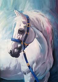 white horse oil painting print 8 x 12 25 00 repinned by