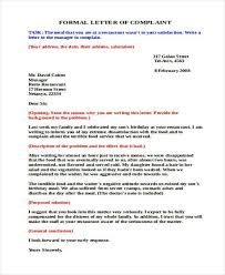 complaint letter examples examples of formal letter example of a formal letter 21 best