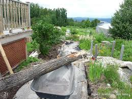 stone dust path diy path edging with logs design ideas
