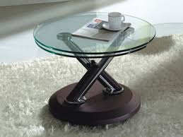 coffee table small round coffee tables round modern coffee table with double glass on top