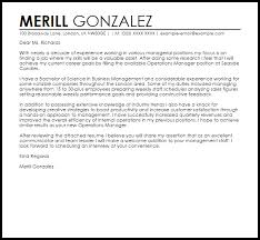 Manager Sample Cover Letter Cover Letter Templates Examples