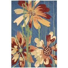 sensational indoor outdoor rugs nourison south beach denim 8 ft x 11