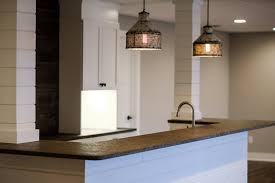 elegant cabinets lighting kitchen. Absolute Leathered Granite Countertop For Your Kitchen Design: Unique Drum  Pendant Lighting And White Elegant Cabinets Lighting Kitchen