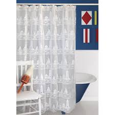 lighthouse and sailboat shower curtain lighthouse and sailboat shower curtain