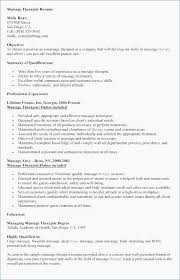 Spa Resume Cover Letter Massage Therapist Resume Objective Resume