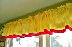yellow valance curtains kitchen pale swag valances image
