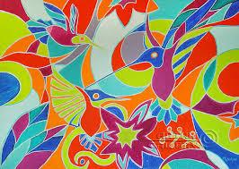 original oil paintings abstract art birds paradise manukjan abstract art with birds