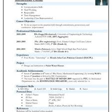 Sample Resume For Freshers Mechanical Engineers Pdf Download
