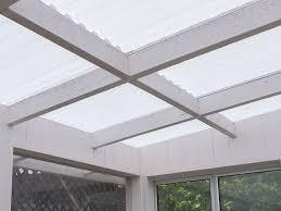tuftex polycarb translucent white roof on sunroom