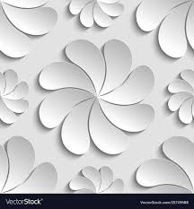 Paper Flower Pattern Extraordinary Seamless Pattern White 48d Paper Flower Circle 48d Vector Image