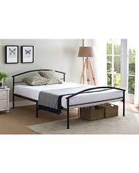 Kings Brand Furniture Kings Brand Black Metal Full Size Platform Bed Frame with Headboard & Footboard, Mattress Foundation/No Box Spring Needed from ...