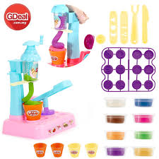diy colour clay set plasticine kids toy noodle ice cream machine