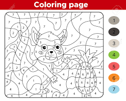 Our free number coloring pages have engaging pictures for each number that children can count and color at the same time. Educational Game For Preschoolers Number Coloring Page Cute Royalty Free Cliparts Vectors And Stock Illustration Image 141921543