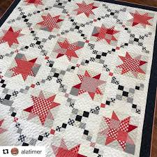 3435 best Quilting images on Pinterest   Quilt blocks, Star quilts ... & Love this version of my Sugar Pine Stars quilt! is selling kits with these  fabrics with patterns available in paper and PDF in my Etsy shop! Adamdwight.com