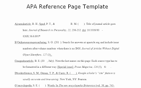Apa Reference Page Template Best Of Reference List Template Page