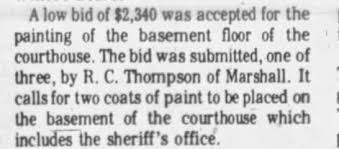 R.C. Thompson's bid to paint basement of courthouse accepted. -  Newspapers.com