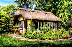 landscape tree nature lawn vintage countryside house flower building old home country rustic village rural cottage