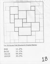 beautiful french tile pattern layout
