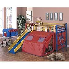 bunk bed with slide. Plain With Coaster Bunk Bed With Slide And Tent Multicolor In With Amazoncom