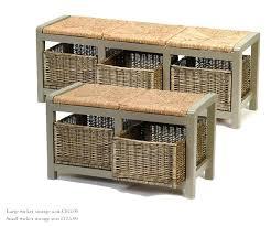 best of wicker storage bench and outdoor wicker storage bench clever hallway storage ideas intended