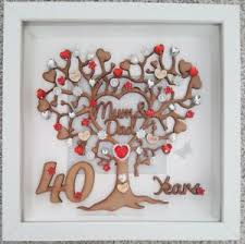 image is loading personalised handmade 40th ruby wedding anniversary gift frame