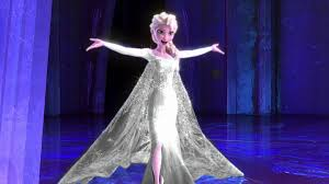 Elsa in shiny silver dress (edited by me): Frozen