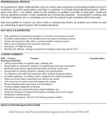 Plumber Cv Example Template Learnist Org