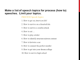 "how to "" speech process speech ppt video online  make a list of speech topics for process how to speeches"