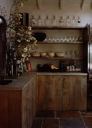 Rustic Kitchen Shelving Kitchen Wooden Material As Well Village Kitchen Stone Flooring