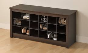 image of entryway bench with shoe storage ideas