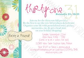 thirty one party invitations