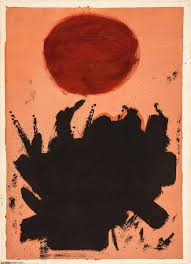 red on brick balance paper by adolph gottlieb 1903 1974 united states