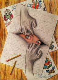 i am anda superb 3d artwork on paper