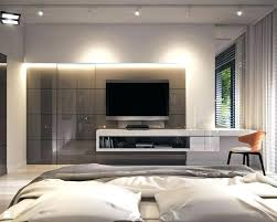 modern bedroom with tv. Delighful Bedroom Bedroom Tv Unit Units Modern In Private Apartment Gray  Interiors Master Design Cabinet With E