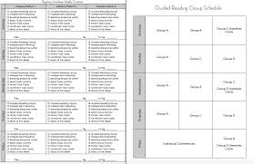 i made five blank copies of my reading work contract and used my guided reading group schedule to select particular activities for each group