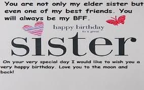 Quotes For Sister Birthday Classy Happy Birthday Wishes And Quotes For Elder Sister Samplemessages Blog