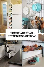 Storage For A Small Kitchen 24 Creative Small Kitchen Storage Ideas Shelterness