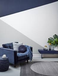 an evolution of geo colour blocking with striking resene blue and grey contrasts