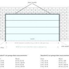 1 car garage door dimensions standard 2 car garage door size size of garage door standard