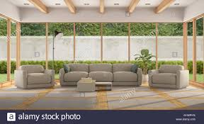 Small Picture Modern Living room of a holiday villa with large window and garden