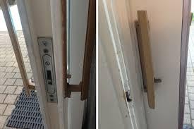 sliding glass door handle with lock air conditioner