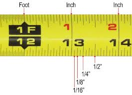 Tenth Of An Inch Chart Accurately Reading A Tape Measure Inches Metric Fractional Read