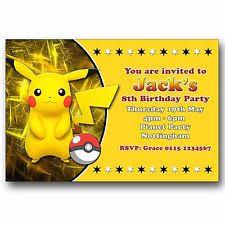 Unbranded Pokémon Cards Stationery For Invitations Ebay